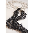 Black Coral Stick Necklace